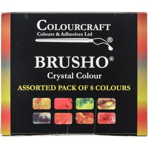 Brusho Crystal Colours Set – 8/Pkg