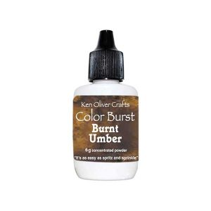 Ken Oliver Color Burst Watercolor Powder - Burnt Umber