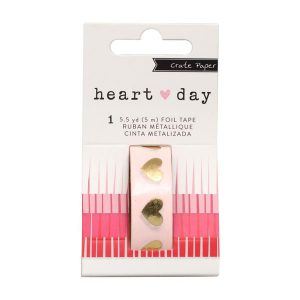 Crate Paper Foil Washi Tape - Heart Day class=