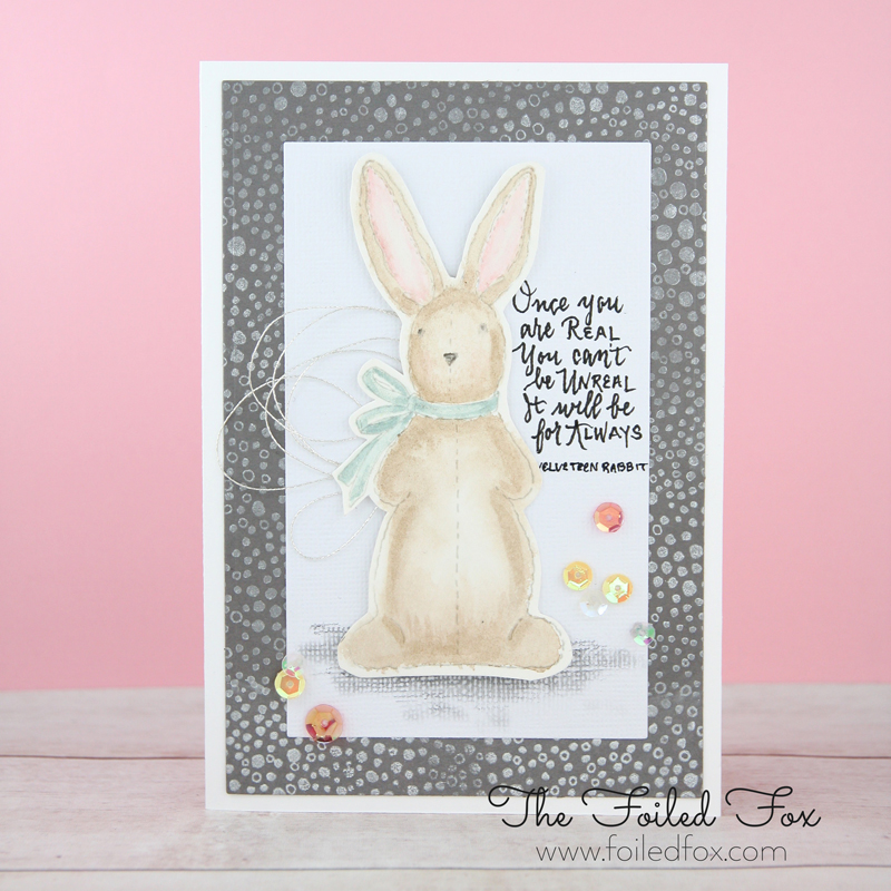 Velveteen Rabbit Card by Foiled Fox