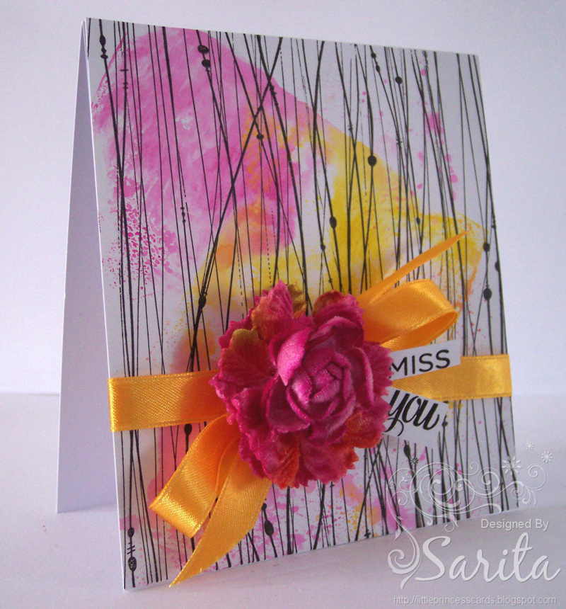 Miss You Card by Sarita
