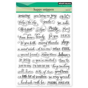 Penny Black Happy Snippets Stamp Set