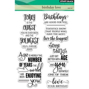 Penny Black Birthday Love Clear Stamp Set