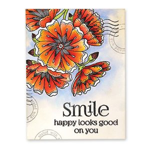 Penny Black Happy Thoughts Clear Stamp Set class=