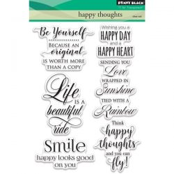Penny Black Happy Thoughts Clear Stamp Set