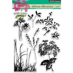 Penny Black Delicate Silhouettes Stamp Set