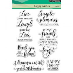 Penny Black Happy Wishes Clear Stamp Set