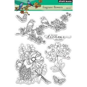 Penny Black Fragrant Flowers Stamp Set
