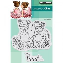 Penny Black Whispers Slapstick Cling Stamp