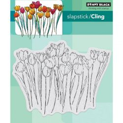 Penny Black Tulip Queue Slapstick Cling Stamp