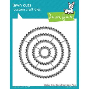 Lawn Fawn Zig Zag Circle Stackables Lawn Cuts