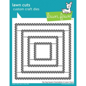 Lawn Fawn Zig Zag Square Stackables Lawn Cuts
