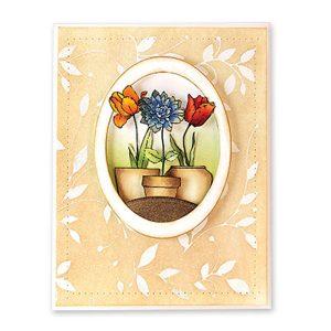 Penny Black Petite Blossoms Stencil class=