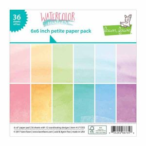 "Lawn Fawn Watercolor Wishes Petite Paper Pack -  6"" x 6"""