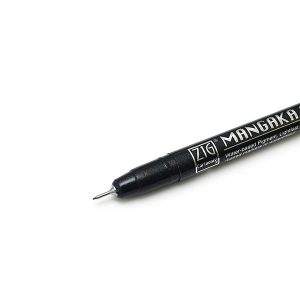 Kuretake Zig Cartoonist Mangaka Outline Pen – 01 – Black class=
