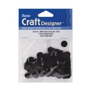 Darice 5mm Black Cupped Sequins