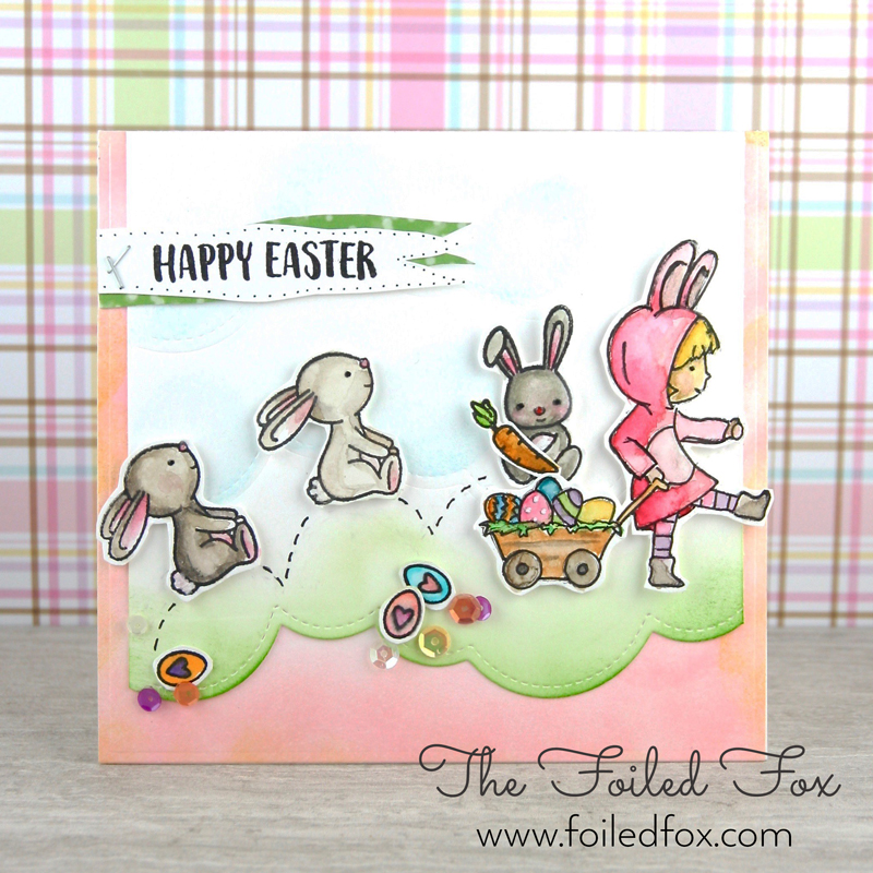 Happy Easter Card using Cottontail Cuties by Neat & Tangled