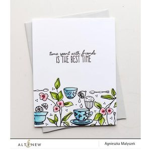 Altenew Tea Time Stamp Set class=