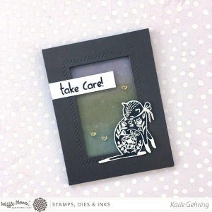 Waffle Flower Flora Cat Stamp Set class=