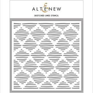 Altenew Sketched Lines Stencil
