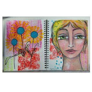 Stencil Girl Scribble Blooms Stencil class=