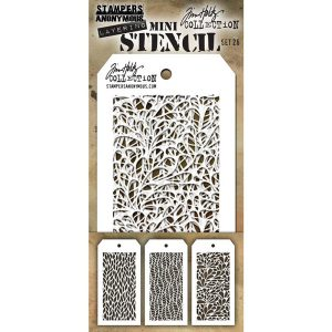 Tim Holtz Mini Layering Stencils, Set 26