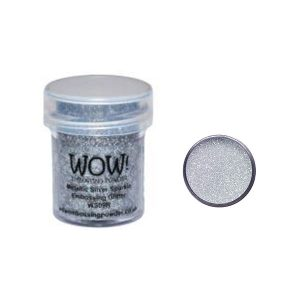 WOW! Metallic Silver Sparkle Embossing Glitter class=