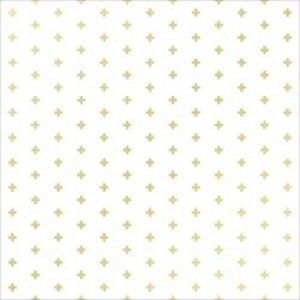 "Crate Paper Poolside Gold Glitter Plus Signs + - 12"" x 12"""