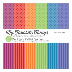 My Favorite Things Dots & Stripes Bright Paper Pack