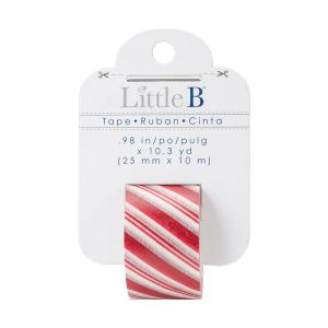 Little B Decorative Paper Tape - Candy Cane Stripes