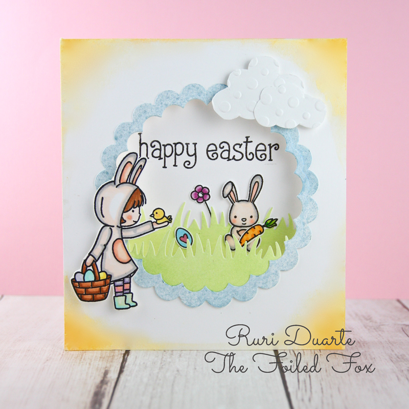 Easter Card by Ruri Duarte of The Foiled Fox