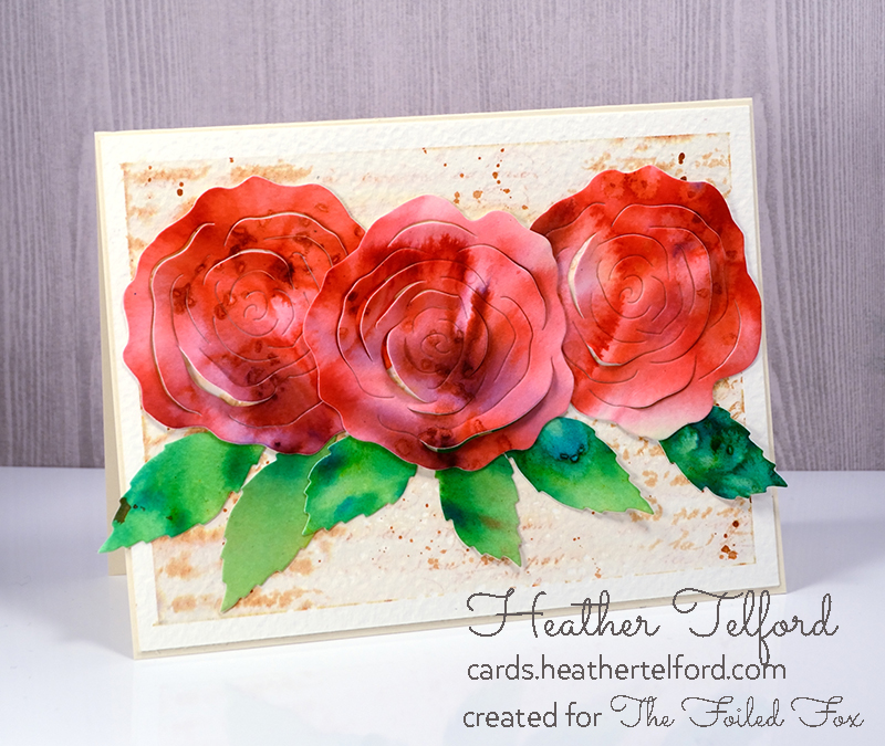 Red Pop-Out Roses by Heather Telford
