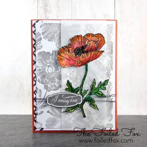 Penny Black Poppy Pattern Background Stamp class=