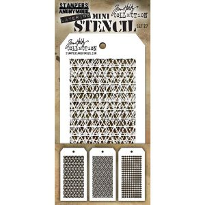 Tim Holtz Mini Layering Stencil, Set #27