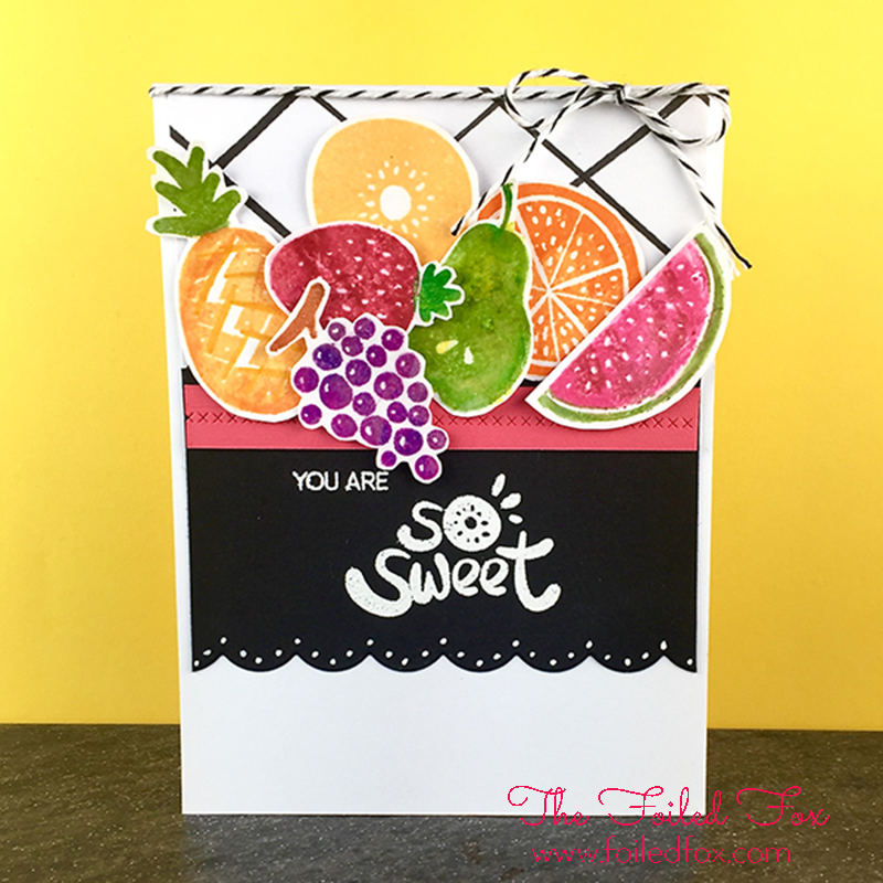 Juicy Fruit handmade card using the Simple Fruits stamp set by Altenew