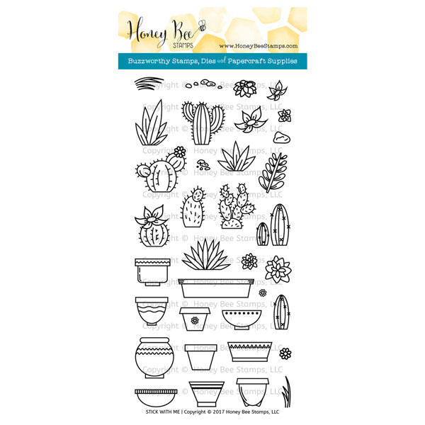 Honey Bee Stamps Stick With Me Stamp Set The Foiled Fox
