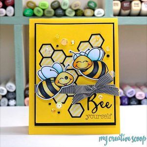 Honey Bee Bee-You-Tiful Sentiment Stamp Set class=