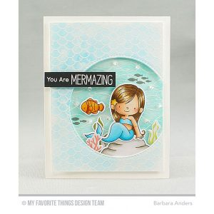 My Favorite Things BG Mermaid Tail Background Stamp class=