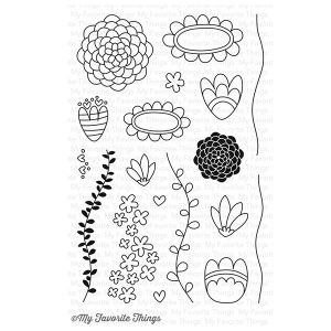 My Favorite Things Doodle Blossoms Stamp Set
