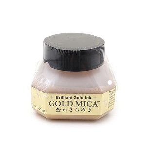 Kuretake Zig Gold Calligraphy Ink - 60 ml Bottle