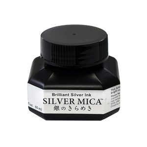 Kuretake Zig Silver Calligraphy Ink - 60 ml Bottle