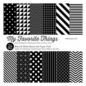 "My Favorite Things Black & White Basics Paper Pack - 6"" x 6"""