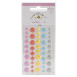 Doodlebug Sugar Shoppe Sprinkles Glossy Enamel Dots - Birthday Girl