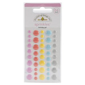 Doodlebug Sugar Shoppe Sprinkles Glossy Enamel Dots - Birthday Girl