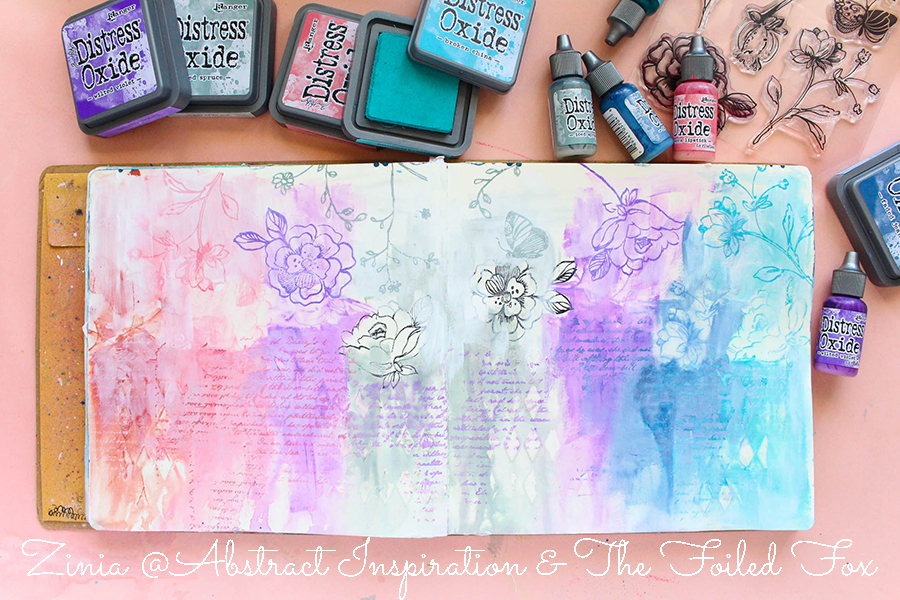 Art Journal page by Zinia of Abstract Inspiration