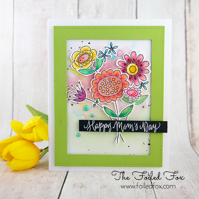 Spring Posies for Mom card using MFT Springtime Blooms