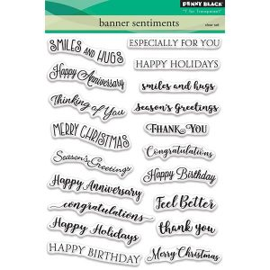 Penny Black Banner Sentiments Stamp Set