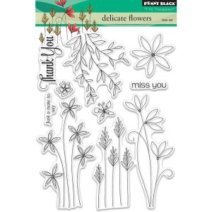Penny Black Delicate Flowers Stamp Set