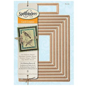 Spellbinders A-2 Matting Basics A Card Creator Die Set class=