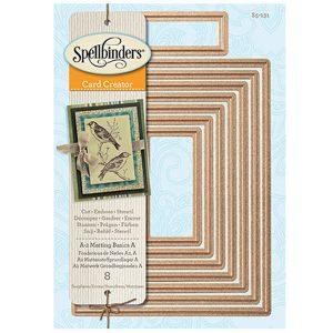 Spellbinders A-2 Matting Basics A Card Creator Die Set class=
